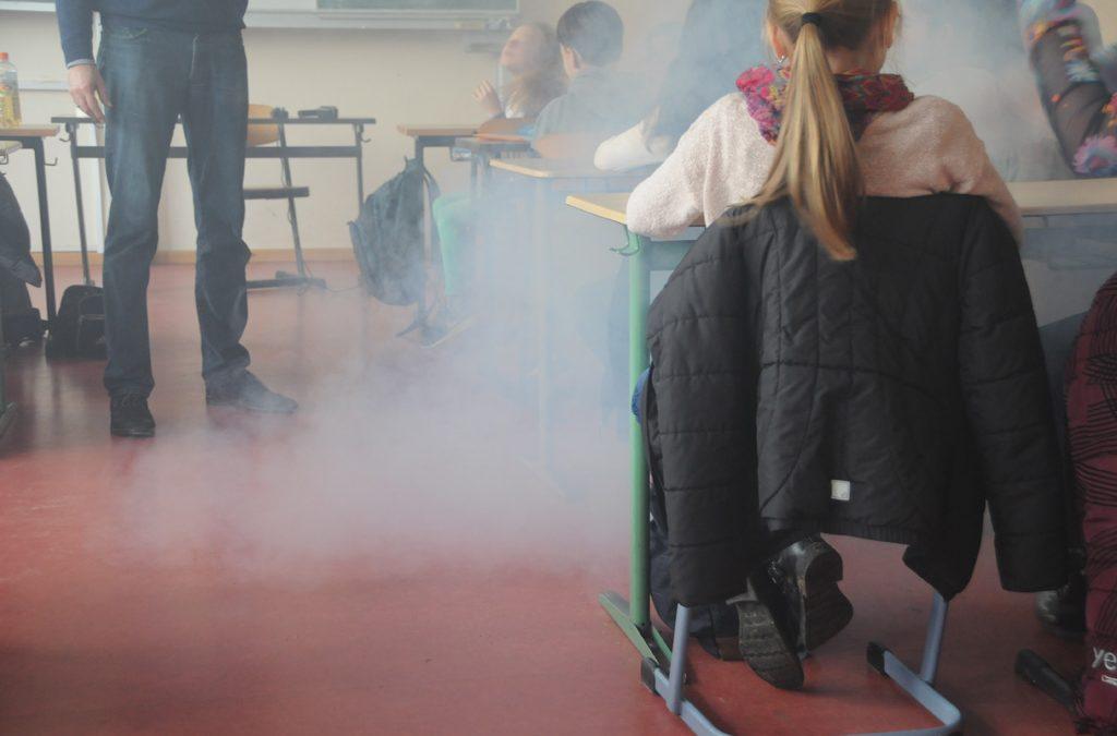 Nebel im Klassenraum