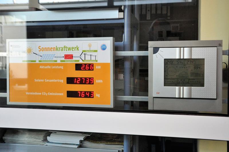 Was leistet unsere Photovoltaikanlage?