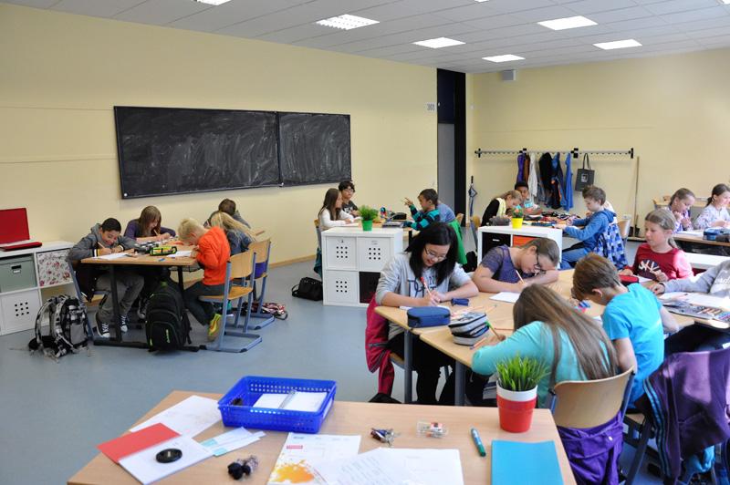 Unterricht im Klassenraum