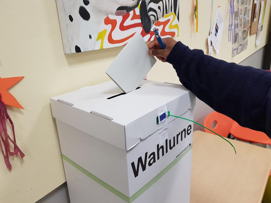 Juniorwahl zur Europawahl 2019 am EBG