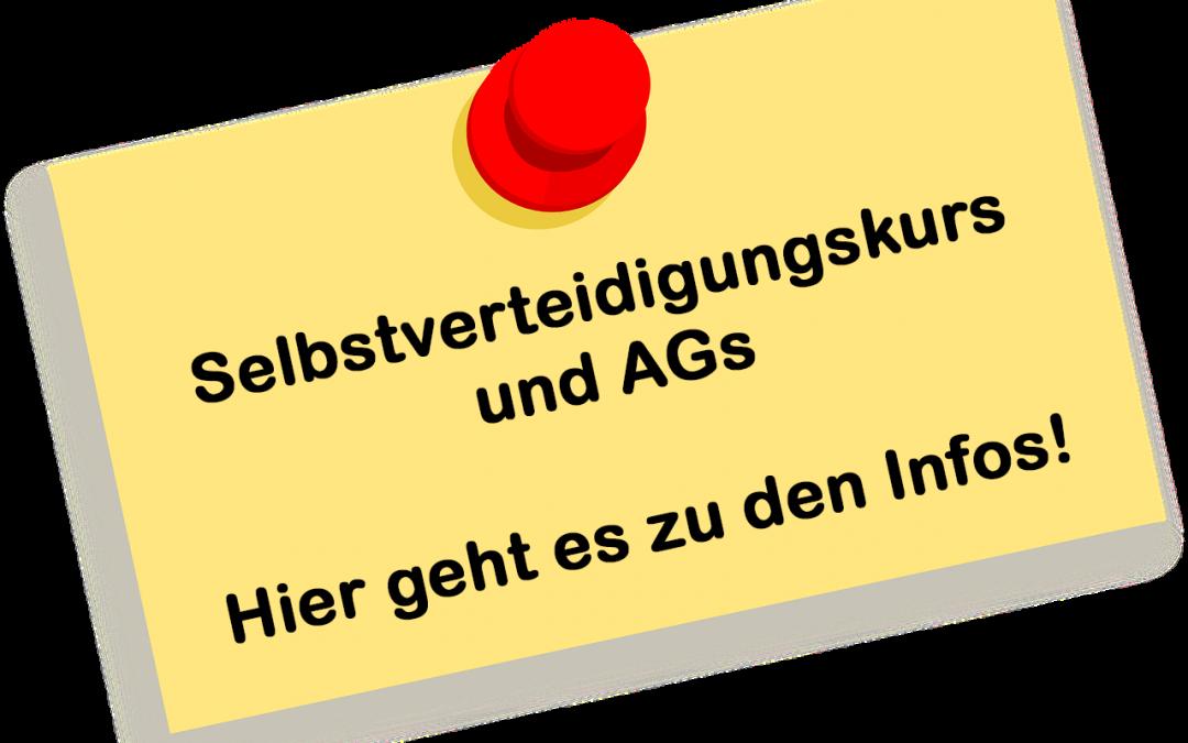 AGs und Selbstverteidigungskurs – alle NEWs hier