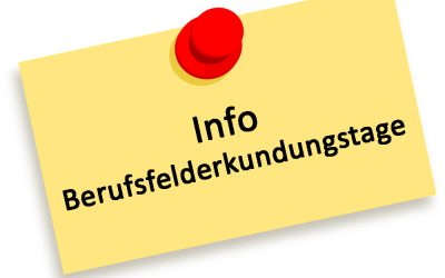 Info Berufsfelderkundungstage