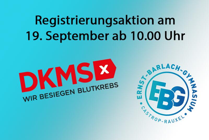 Zusammenhalten und Hoffnung schenken – große DKMS Registrierungsaktion am EBG