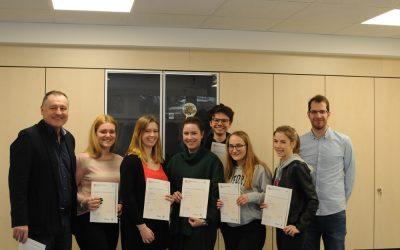 EBG-Schülerinnen und -Schüler erhielten Cambridge Certificates