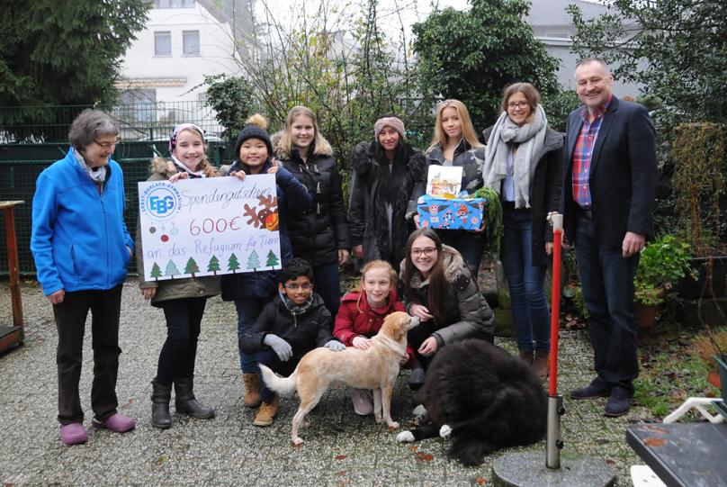 EBG spendet an das Refugium für Tiere in Not