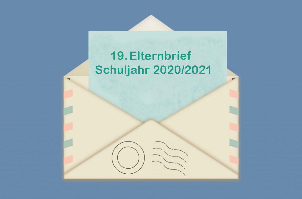 19. Elternbrief Schuljahr 2020/2021