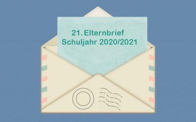 21. Elternbrief Schuljahr 2020/2021