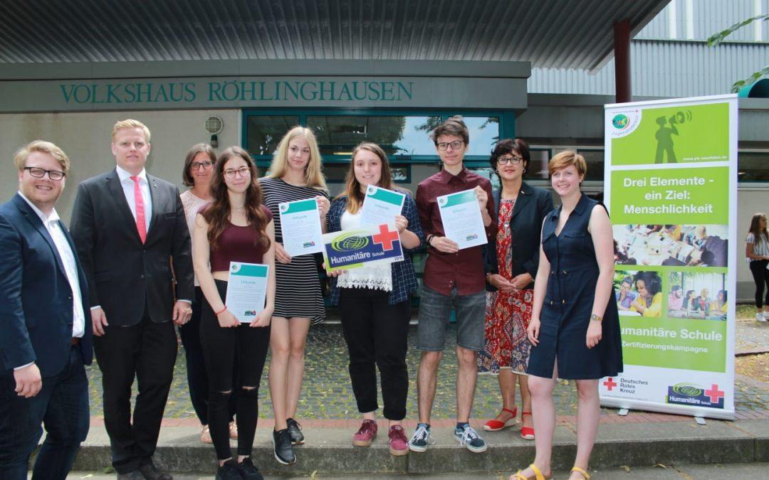 EBG wurde erneut als Humanitäre Schule zertifiziert