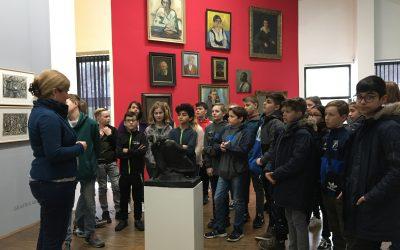 Kunstunterricht im Graphikkabinett im Kunstmuseum Gelsenkirchen
