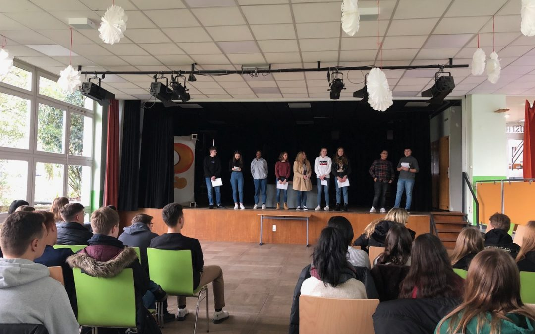 Poetry-Slam von Deutschkursen der Jahrgangsstufe EF