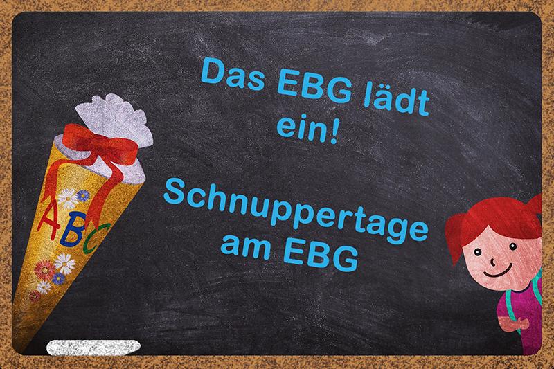 Das EBG lädt ein
