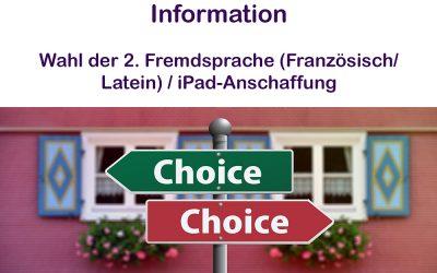 Information Sprachenwahl / iPad Anschaffung