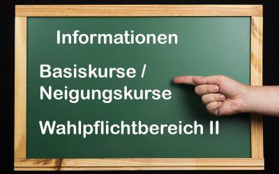 Informationen zur WPII-  und Neigungskurswahl