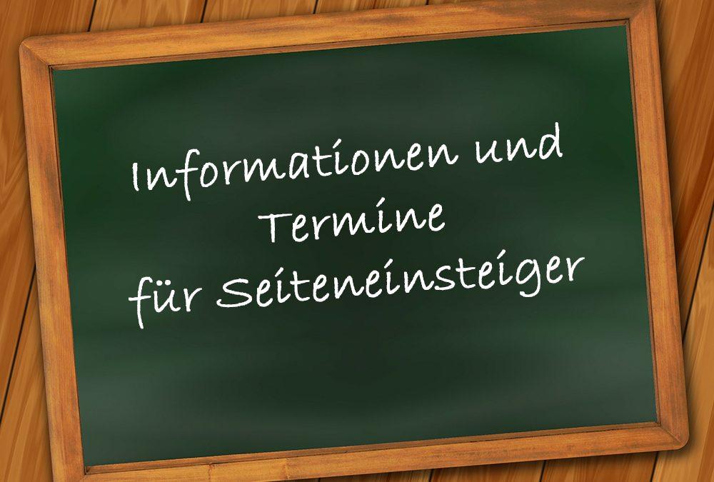 Informationen für Seiteneinsteiger zum Besuch der gymnasialen Oberstufe