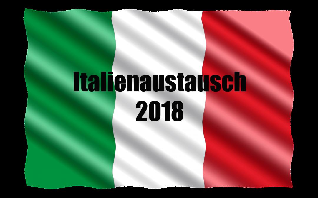 Anmeldung Italienaustausch 2018