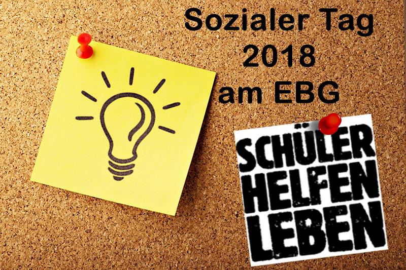 Sozialer Tag 2018 – das EBG macht mit!