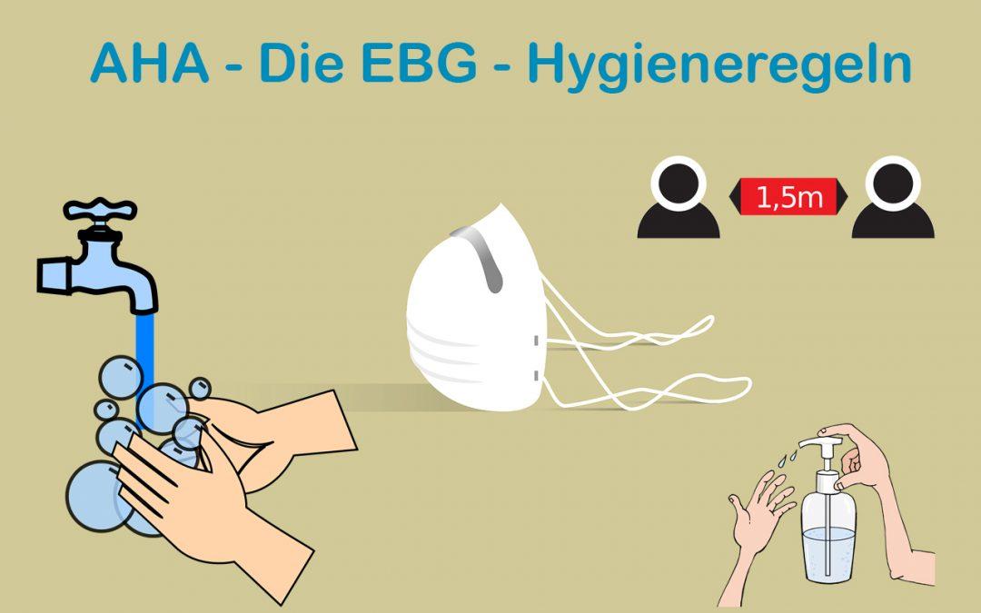 AHA! – Die EBG – Hygieneregeln