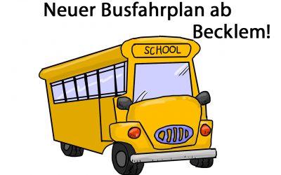 Neuer Busfahrplan für den E481