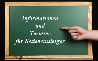 Informationen und Termine für Seiteneinsteiger